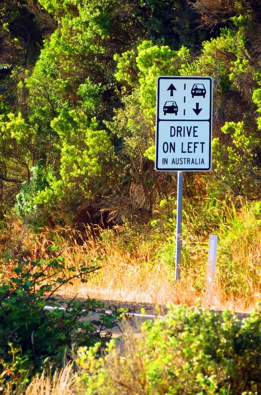 Australia drives on the left
