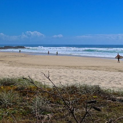 Currumbin Beach QLD Australia; A beautiful white sand beach which is most famous for it's sunsets.