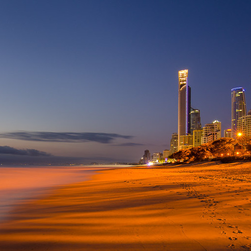 Surfers Paradise beach is one of the most photographed beaches in Australia.
