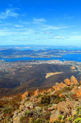 """Only a short drive from Hobart City is Mt Wellington and Wellington Park. Enter """"Pinnacle Road"""" into your GPS and drive to the summit for absolutely spectacular views of the city."""