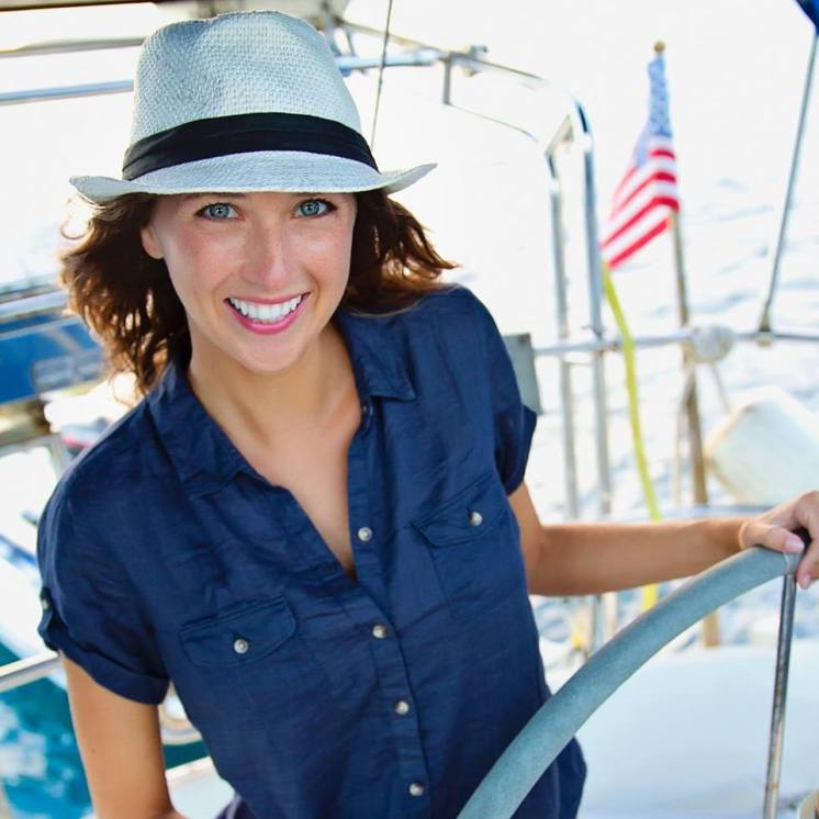 Jessica is a Michigan girl who grew up without ever setting foot aboard a sailboat, though now she sails around the world!