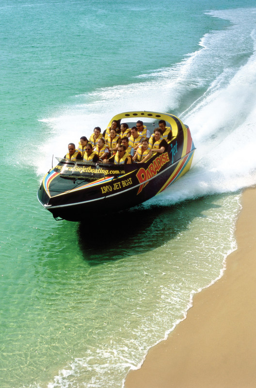 To describe the experience of jet boating, it's similar to that of a theme park rollercoaster ride, though on the water. And you should expect to get soaked!