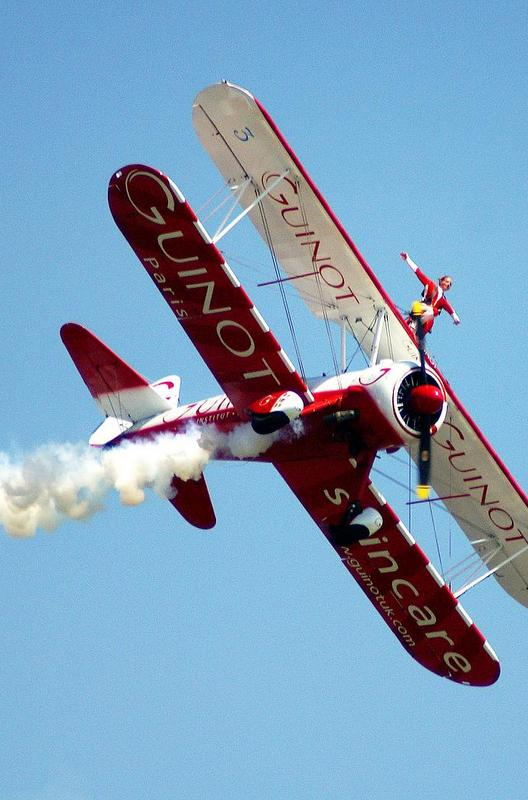 Wing walking is for those daredevils seeking something truly extreme – the act of moving on the wings of an airplane during flight!!