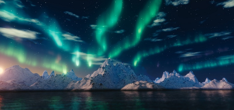 When the Northern Lights hit Iceland (late September to early April) you can see them throughout most of the country.