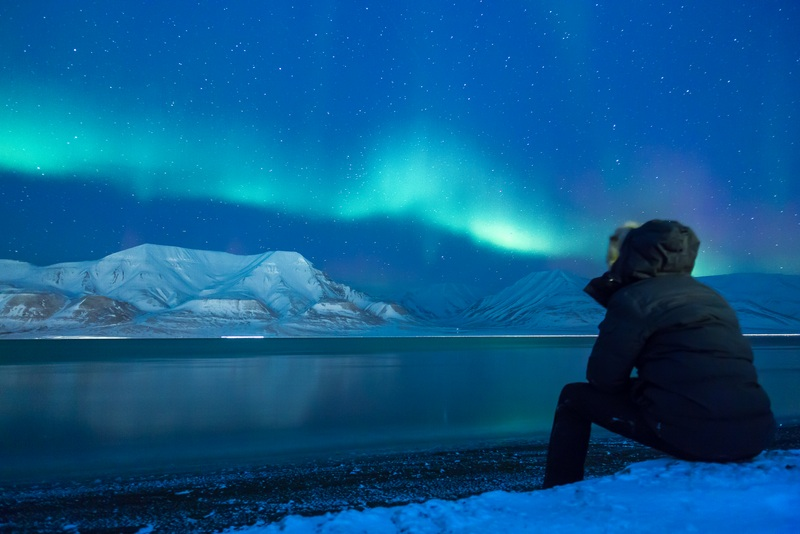 Svalbard, Norway sees 24 hour darkness during the winter.