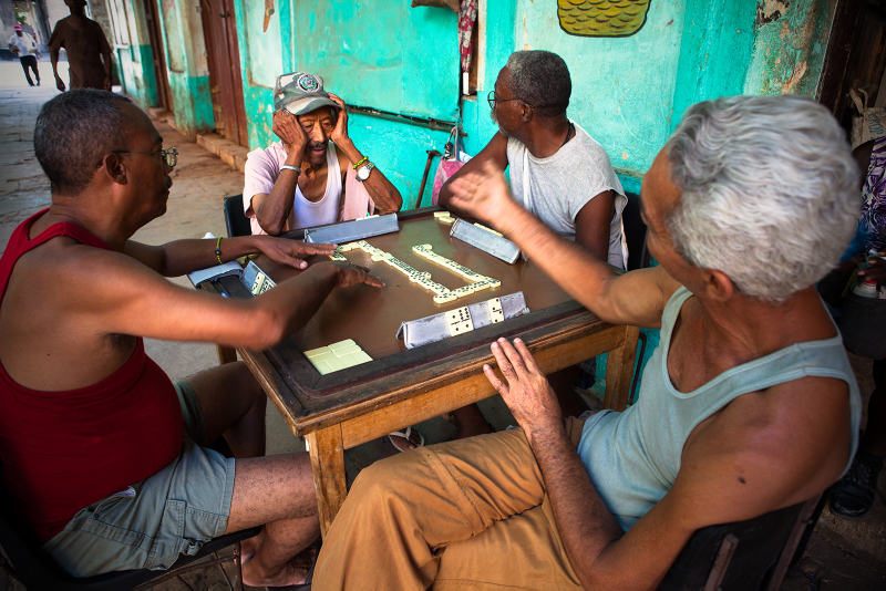 Really interesting to see people playing domino on Havana streets, under amazing and colored arcades. If you want you can get closer and take some beautiful shot of this moment, but don't forget to ask their permission.