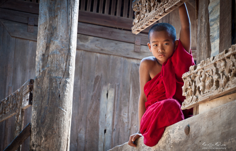 For a boy in Myanmar it is customary to enter a monastery between the age 10 and 20 as a Buddhist novice for at least one week.