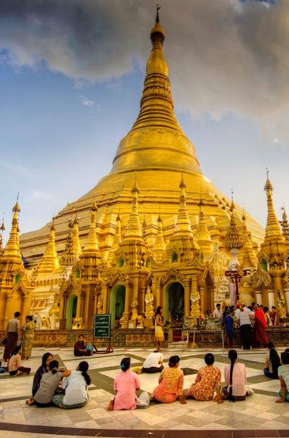 The most sacred pagoda in Myanmar is Shwedagon Pagoda, in Yangon.