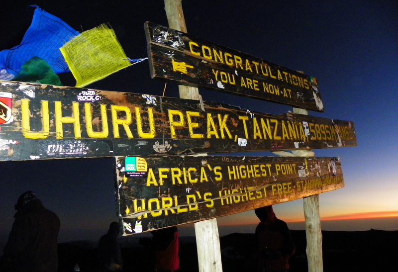 At 5895 metres, Kilimanjaro in Tanzania is the highest peak in Africa and the highest free-standing mountain in the world.