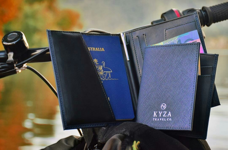 Kyza travel wallet passport holder