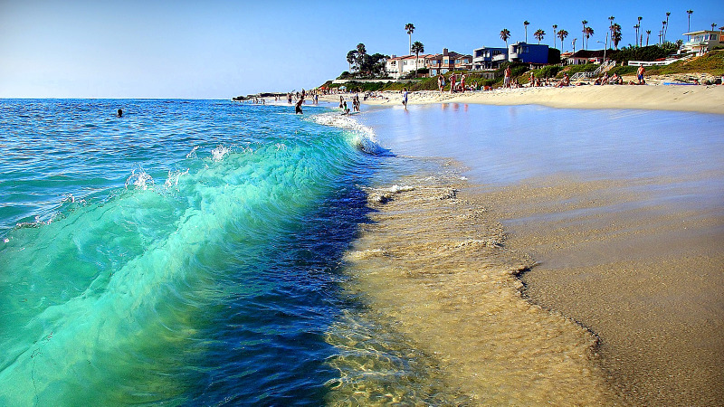 San Diego has 17 miles of coastline, so the beach is a popular way to spend the day.