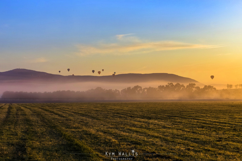 Before you start on the trail, get up early for a one hour hot air balloon ride.