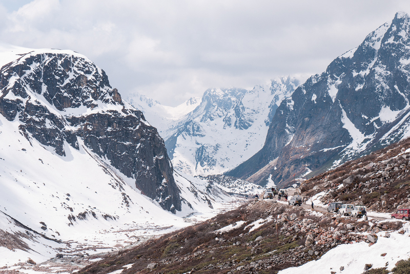 Lachung is famous for scenic beauty and beautiful snow capped mountains.