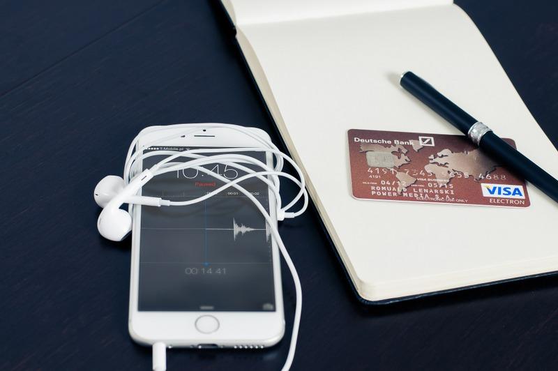 Phone credit card