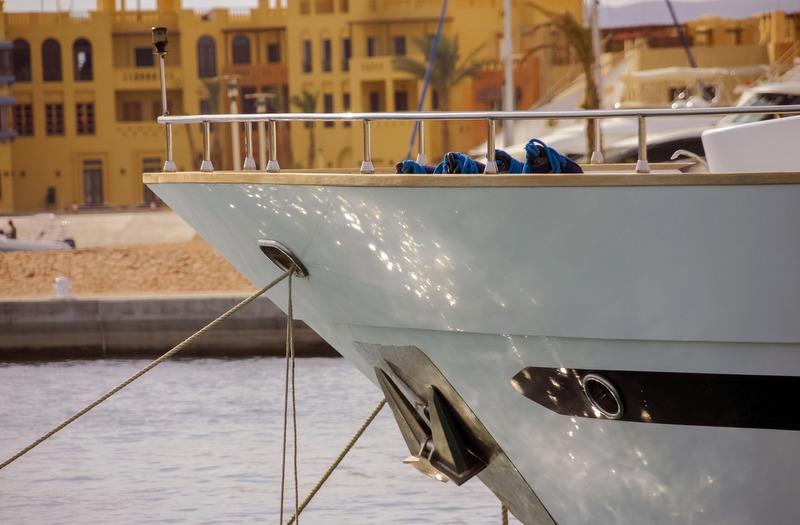 Yacht sailing boat Royalty Free