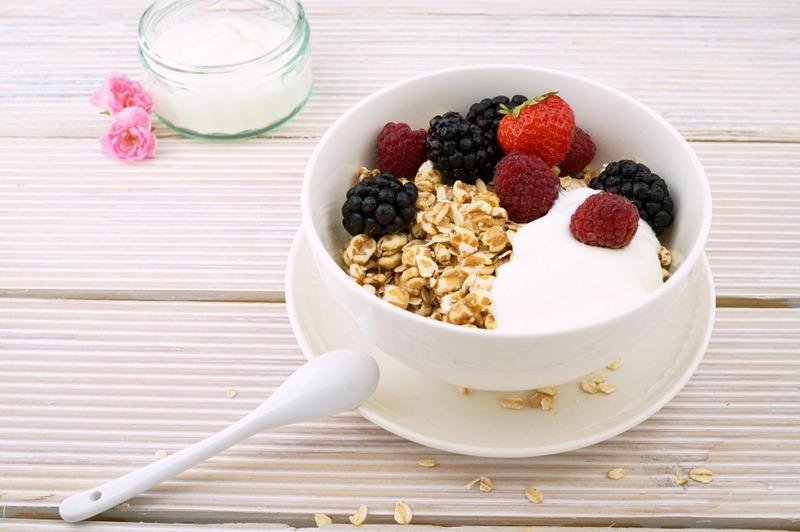 Yoghurt brunch breakfast food