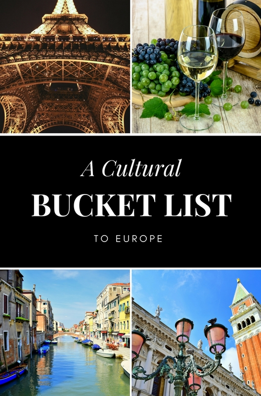 Europe is one of the best places in the world to experience art and culture, and the continent's expansive history has created a very diverse cultural experience.