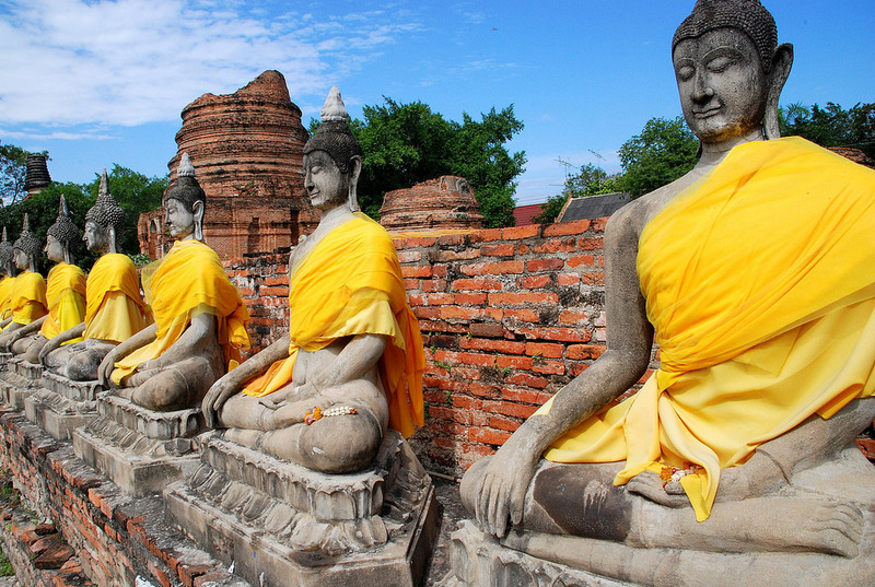 The ancient ruins of Ayutthaya