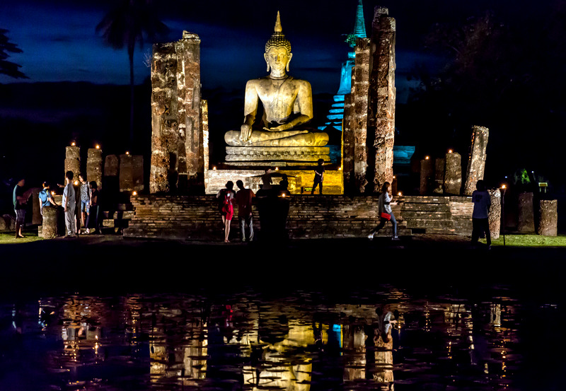 Light Show in Sukhothai Historical Park