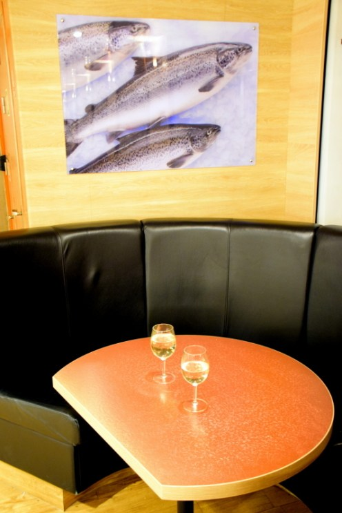 The Spirit has a number of bars onboard with an array of Tasmanian wines, ciders and beers.