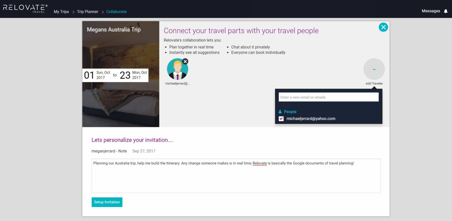 The easiest travel planning website and itinerary creator you'll find