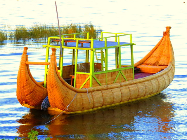 The craft of making totora reed boats from the indigenous Uros people that call Lake Titicaca home.