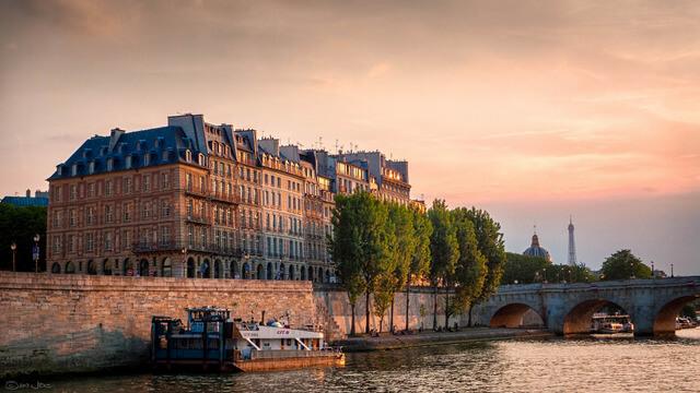 Apartments on the Quai de l'Horloge on the Île de la Cité in Paris.