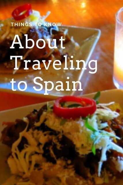 The following are 5 important things to know about traveling to Spain.