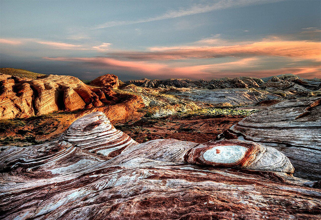 Around sunset, Valley of Fire State Park, NV.