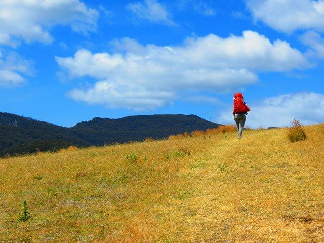 Backpacking outdoors hike trek