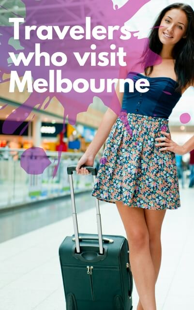 Types of travelers who visit Melbourne