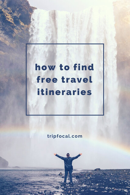 If you're looking for a travel itinerary template, design, or planner, you NEED to sign up to Tripfocal - a database where you can download free travel itineraries!