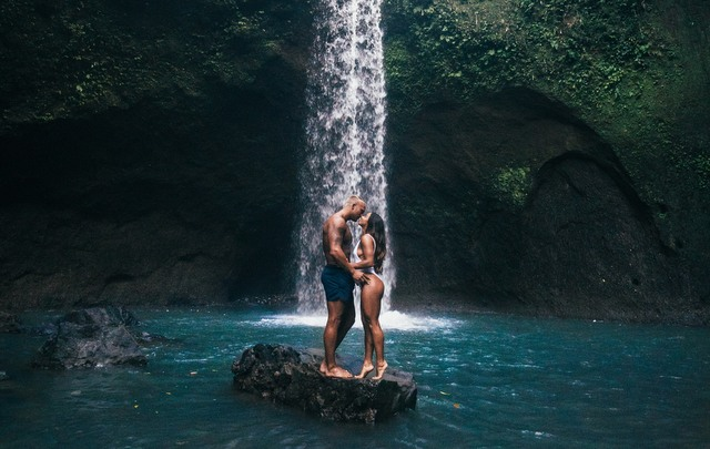Couple waterfall love romance RF