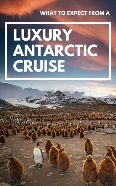 Read about what it's like to take a luxury cruise to #Antarctica.