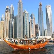 Things to do in Dubai: Taking a Dhow Cruise in Dubai Marina