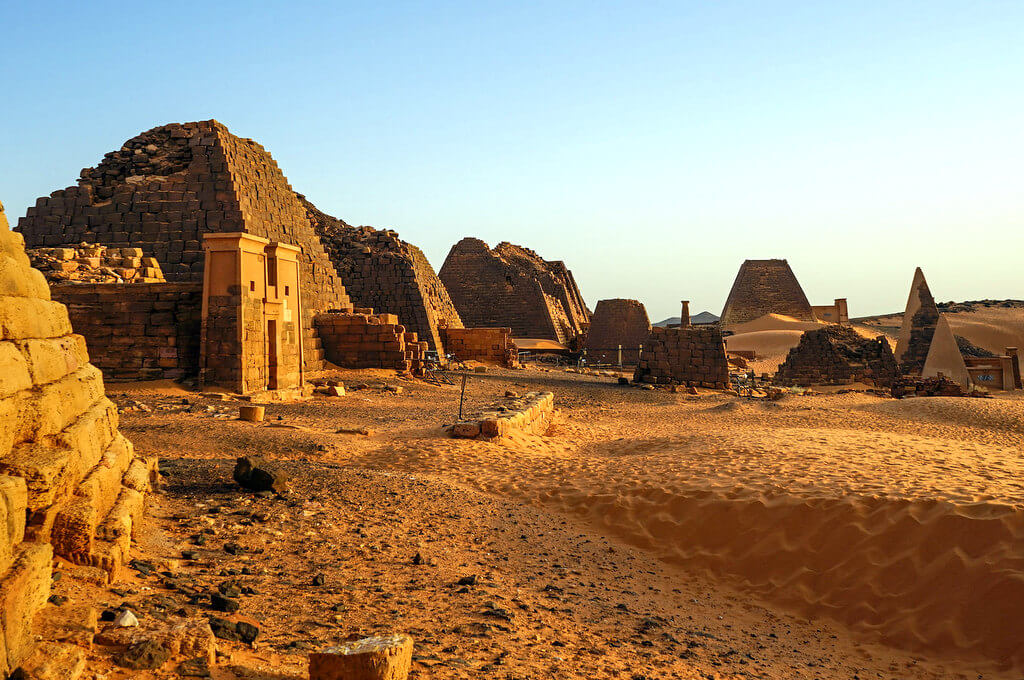 Nubian Pyramids, Meroe, Sudan