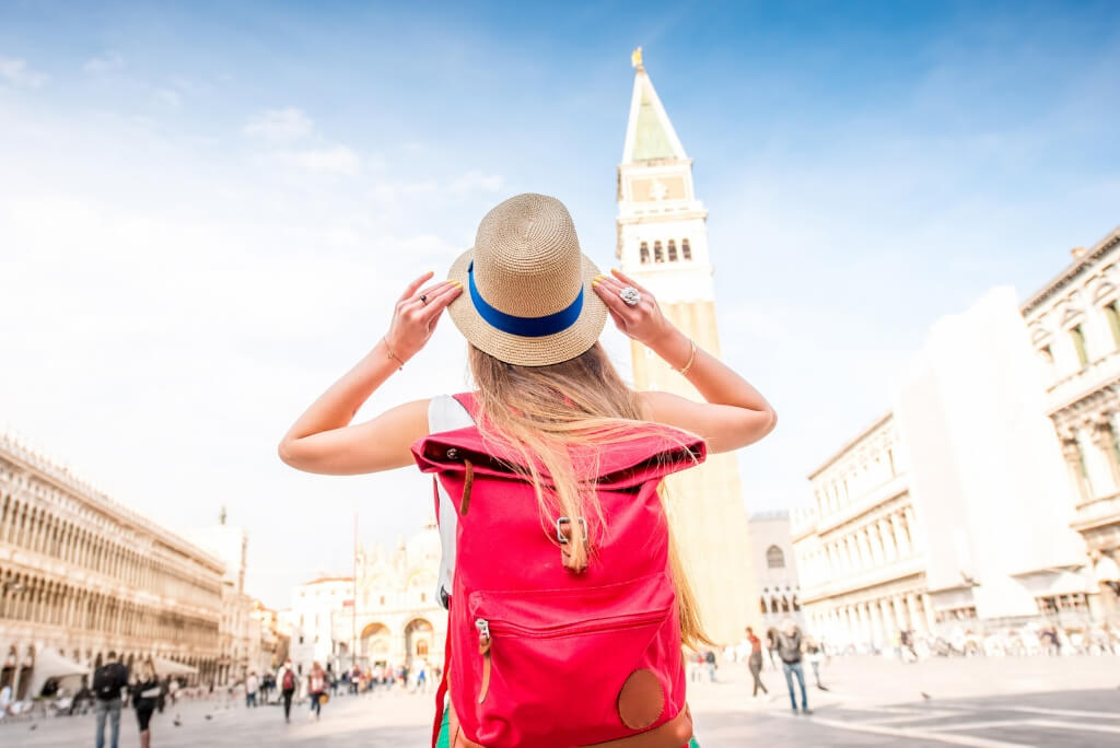 Traveler female woman RF travel Venice