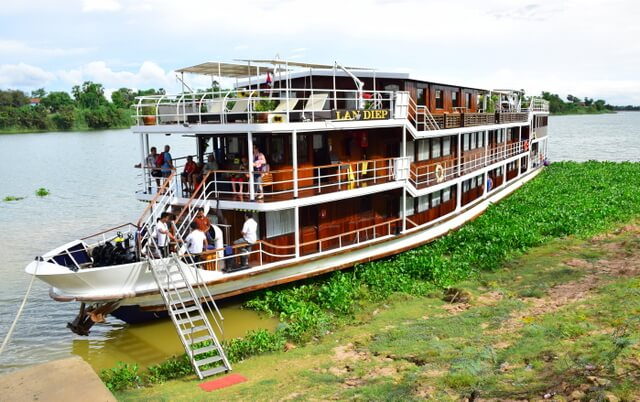 Mekong River Cruise Vietnam to Cambodia on the RV Lan Diep .