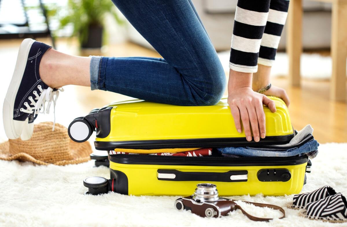 Suitcase packing bag luggage travel RF
