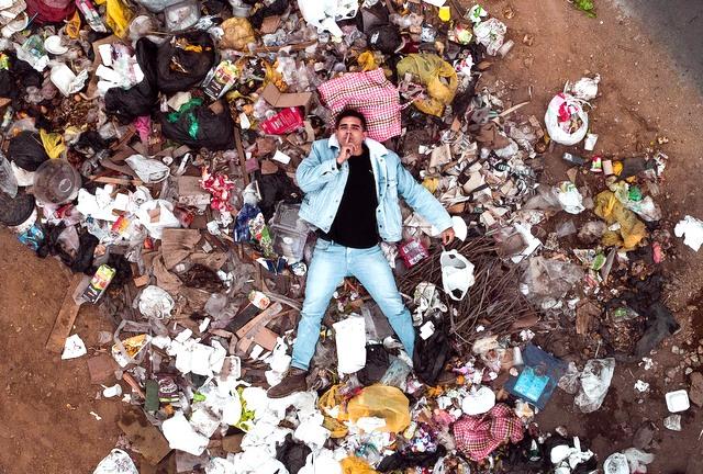 Plastic beach trash RF
