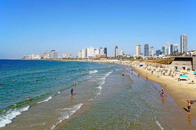 Tel Aviv Beach Places to visit in Israel
