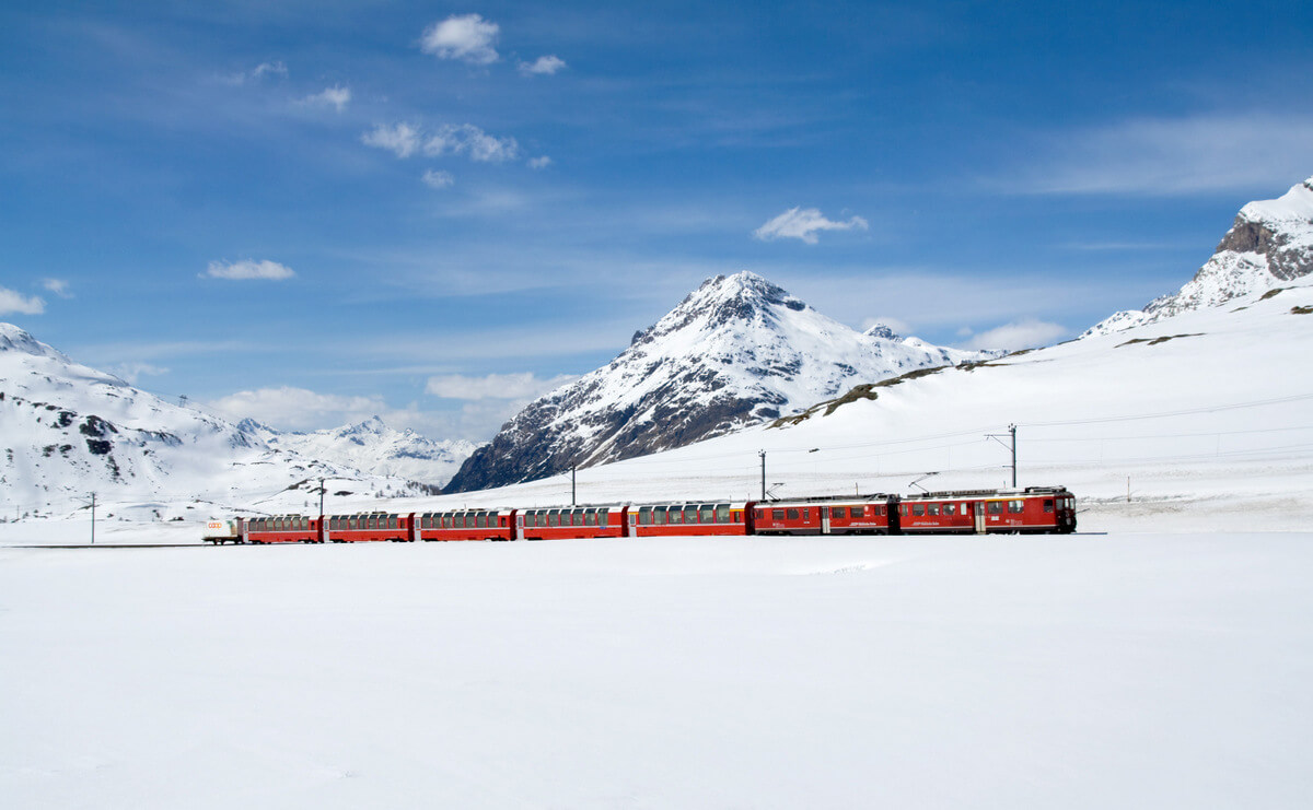 Bernina Express in Winter train RF