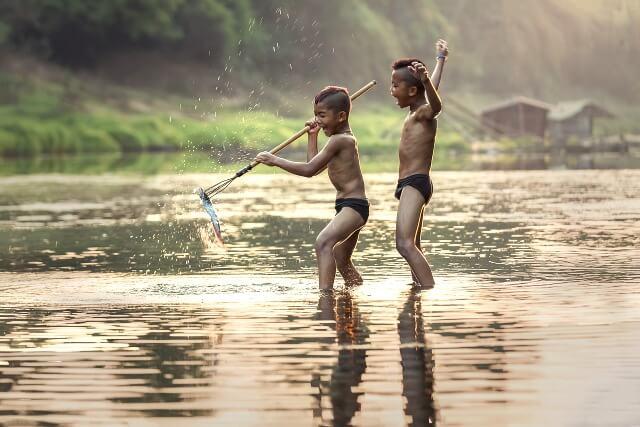 Spear fishing asia RF