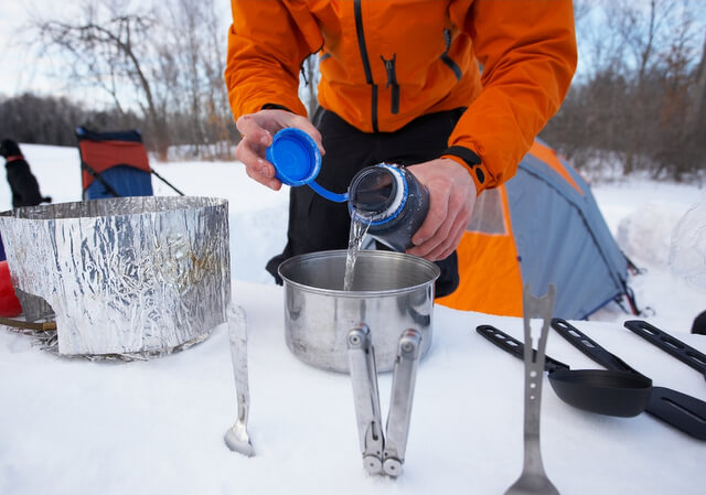 Camping cold weather snow RF