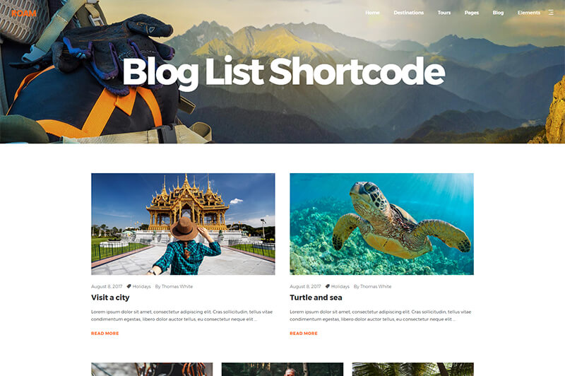 Roam WordPress Travel Blog Theme