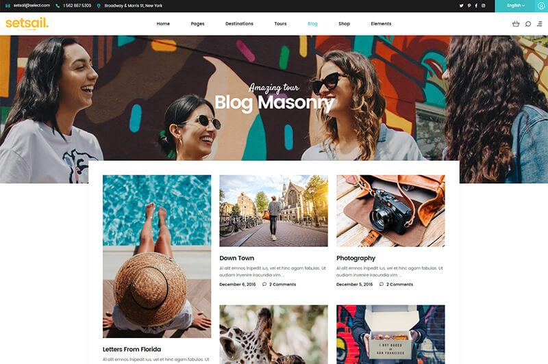 Wordpress Travel Blog Theme
