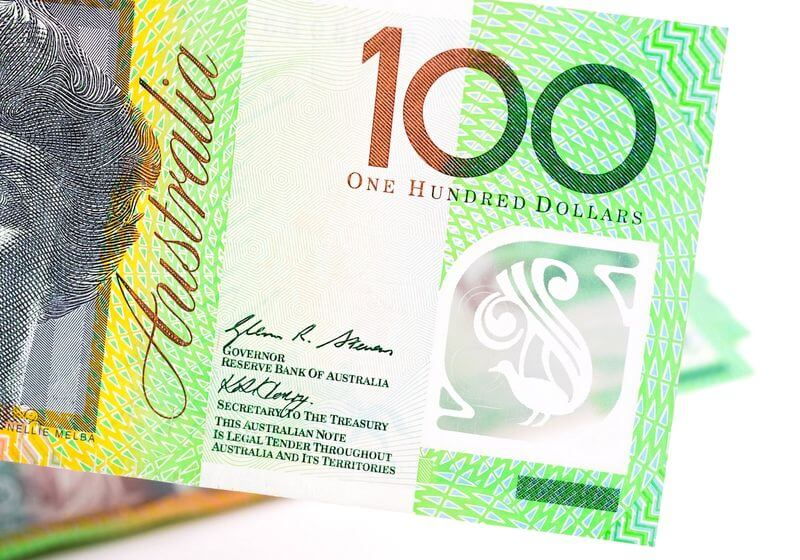 Australian money dollar RF