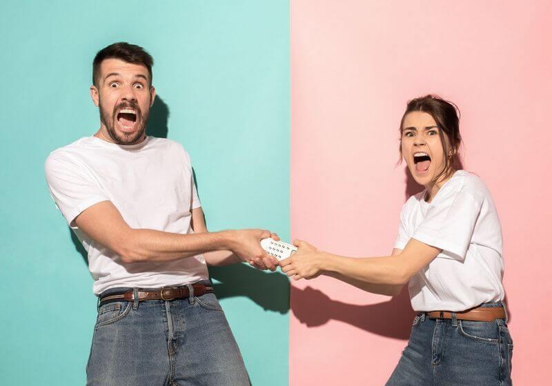 TV remote control couple fight RF