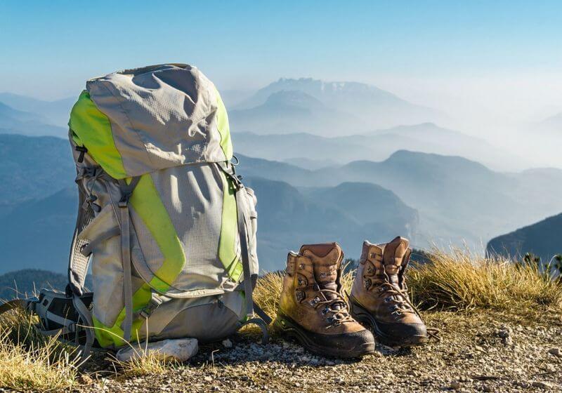 Backpack hiking shoes luggage bag RF