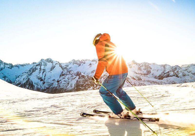 Ski slope snow RF